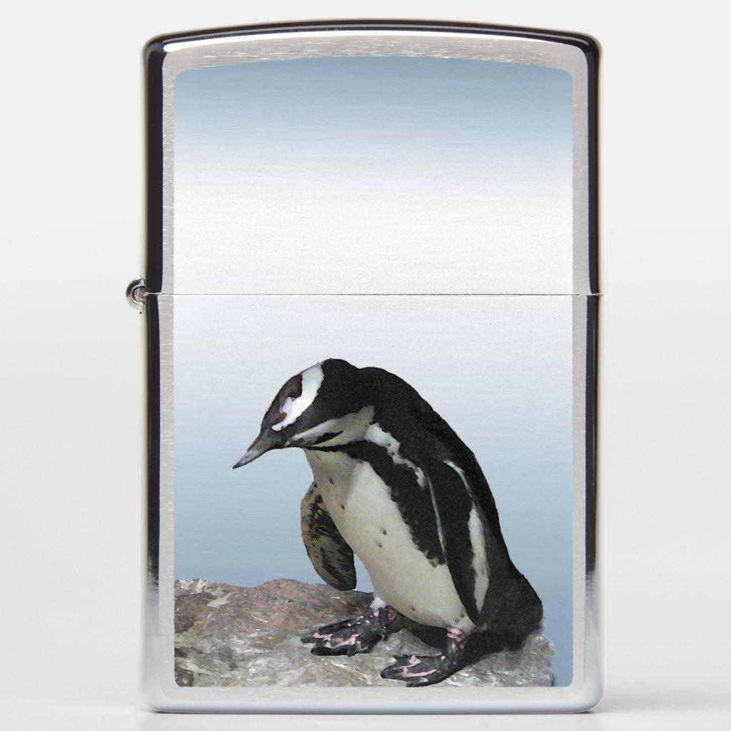 Black and White Penguin Bird Zippo Lighter