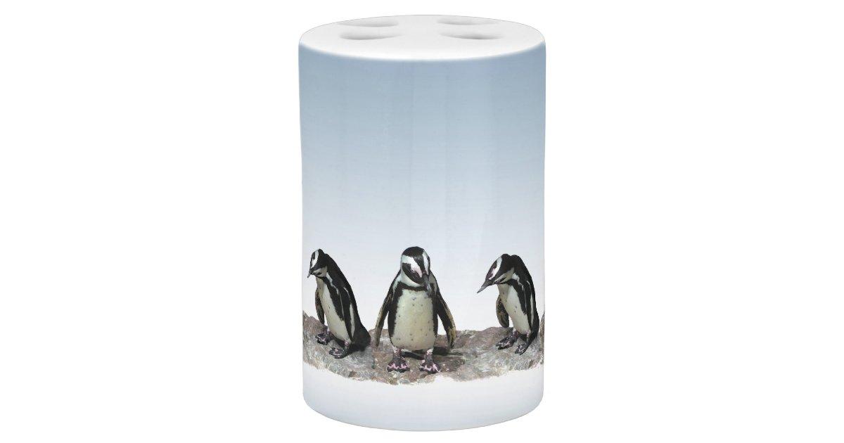 Black And White Penguins Bathroom Set Zazzle