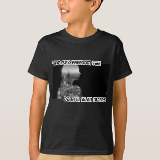 Black and White Pensive Woman City Silhouette T-Shirt