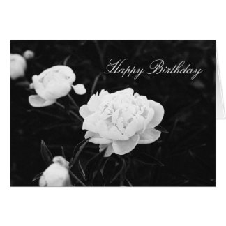 Black and White Peony Card