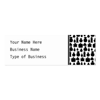 Black and White Perfume Bottle Pattern. Business Card