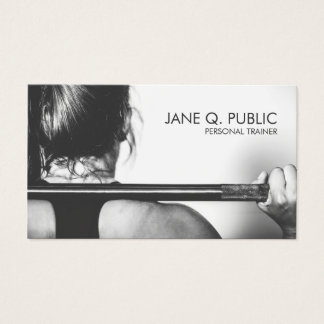 Business cards business card printing zazzle black and white personal trainer fitness training business card reheart Images