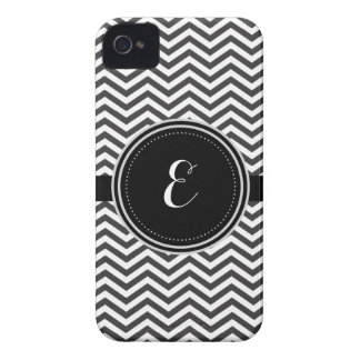 Black and White Personalized Cheveron Pattern iPhone 4 Cover