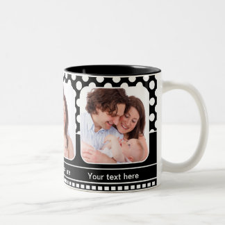Black and White Personalized Photo Frame Mug