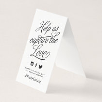 Black and White Personalized Wedding Hashtag Sign