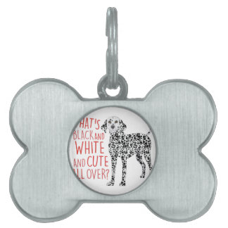 Black And White Pet Tag
