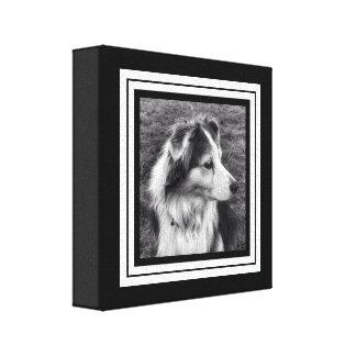Black and White Phone Pic Mini Size Canvas Print