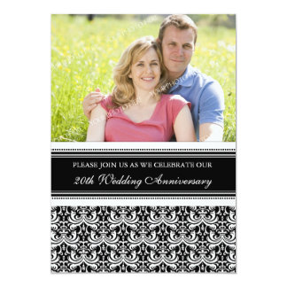 Black and White Photo 20th Anniversary Party Card