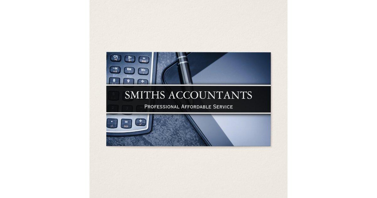 Black and White Photo Accountant - Business Card | Zazzle.com