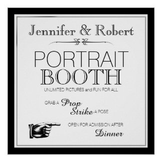 Black and White Photo Booth Sign
