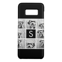 Black and White Photo Collage Custom Monogram Case-Mate Samsung Galaxy S8 Case