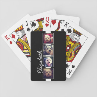 Black and White Photo Collage Squares Personalized Deck Of Cards