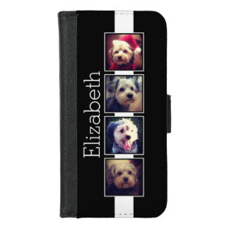 Black and White Photo Collage Squares Personalized iPhone 8/7 Wallet Case