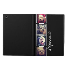 Black And White Photo Collage Squares With Name Case For Ipad Air at Zazzle