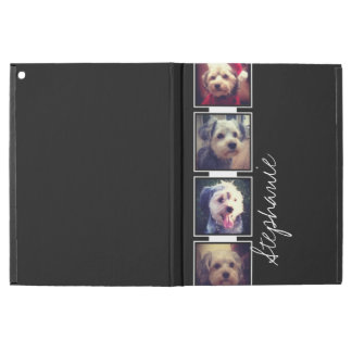 Black and White Photo Collage Squares with name iPad Pro Case