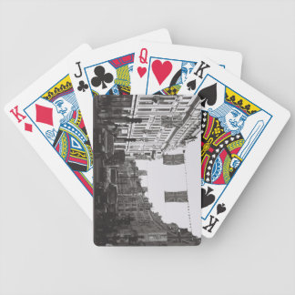 Black and white photo london oxford circus bicycle poker deck
