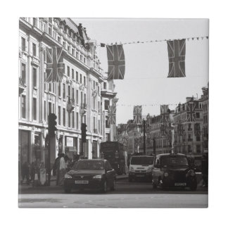 Black and white photo london oxford circus tile