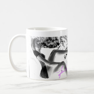 Black and White photo of hottie in car Coffee Mug