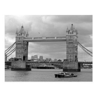 Black and white photo of Tower Bridge Postcard