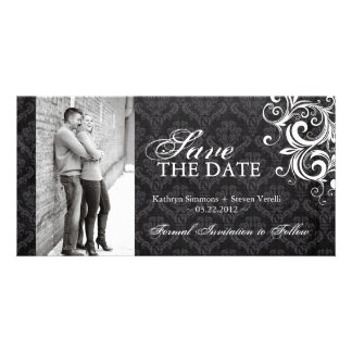 Black and White Photo Save The Date Invitation