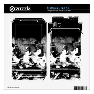 Black and white photo motorola droid x2 skin