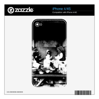 Black and white photo skin for iPhone 4