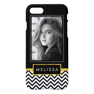 Black and White Photo Template w/ Faux Gold Finish iPhone 8/7 Case