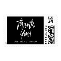 Black and White Photo Thank You Postage Stamp
