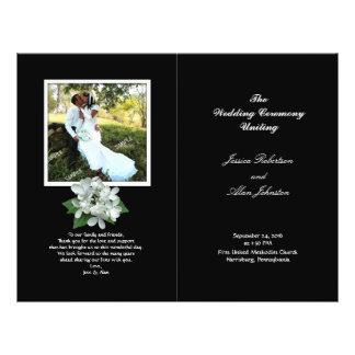 "Black and White Photo Wedding Program Folded 8.5"" X 11"" Flyer"
