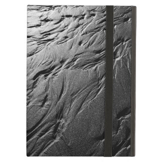 Black and white photograph of beach sand patterns case for iPad air