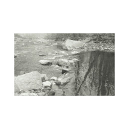 Black and White Photography Calm River on Canvas