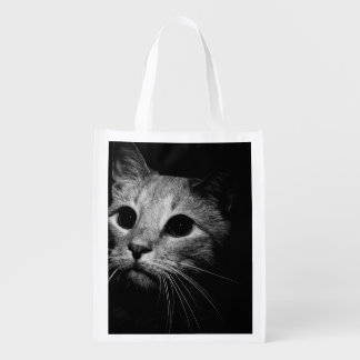black and white photography grocery bag