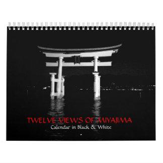 Black and White Photography of Miyajima Calendar