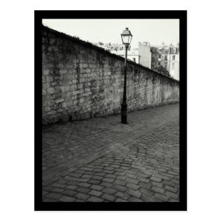 Black and White Photography of Paris Lamp Post Postcard