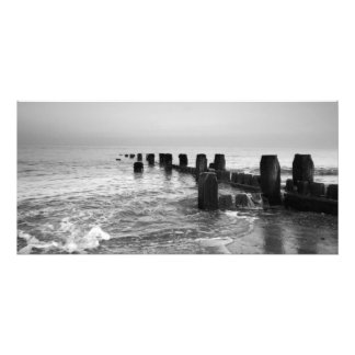 """Black and white photography – """"Seaside breakers"""" Photo Print"""