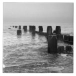 "Black and white photography – ""Seaside breakers"" Ceramic Tile"