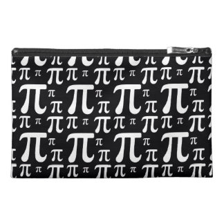 Black and White Pi Pattern Travel Accessories Bag