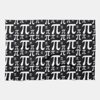 Black and White Pi Pattern Towels