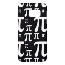 Black and White Pi Pattern Samsung Galaxy S7 Case
