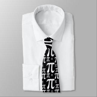 Black and White Pi Pattern Tie