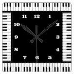 Black And White Piano Decorative Wall Clock