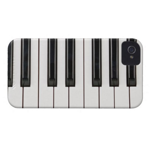 Black and White Piano Keyboard Case Cover Case-Mate iPhone 4 Cases