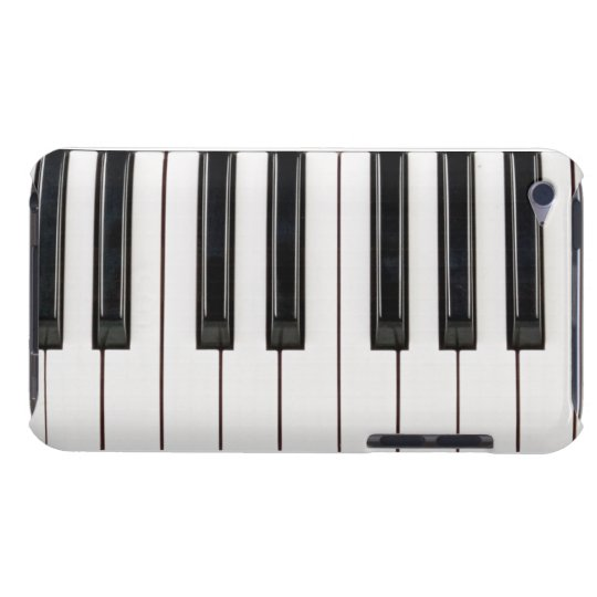 Black and White Piano Keyboard Case Cover
