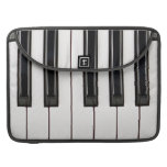 Black and White Piano Keyboard Case Cover Sleeve For MacBook Pro