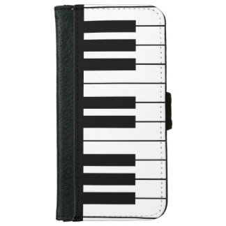 Black and White Piano Keyboard iPhone 6/6s Wallet Case