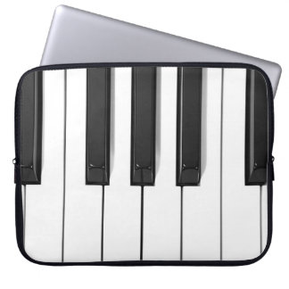 Black and White Piano Keyboard Laptop Case Computer Sleeve