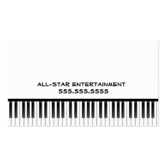 Black and White Piano Keys Double-Sided Standard Business Cards (Pack Of 100)