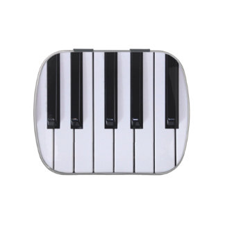 Black and White Piano Keys Candy Tin