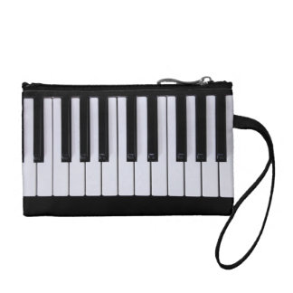 Black and White Piano Keys Clutch