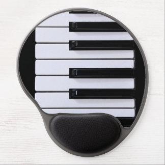 Black and White Piano Keys Gel Mousepad